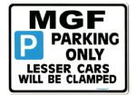 MGF Large Sign for mg f mgtf 1.8 i 1.8i se vvc trophy